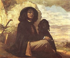 Courbet - Self-Portrait with Black Dog