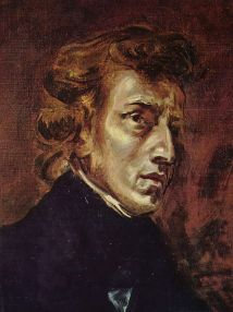 Delacroix - Portrait of Frederic Chopin