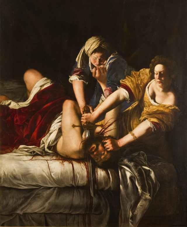 Artemisia Gentileschi, Judith Slaying Holofernes, ca 1620, Uffizi, Florence